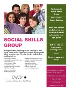 Social Skills Groups @ Counseling and Wellness Center of South Florida