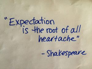 Expectations @ CWCSF